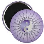 Purple Starburst Yin Yang Magnet