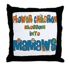 Former Flower Child Mamaw Throw Pillow