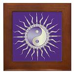 Purple Starburst Yin Yang Framed Tile