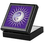 Purple Starburst Yin Yang Keepsake Box