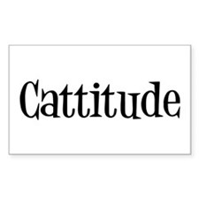 Cattitude Rectangle Sticker 50 pk)