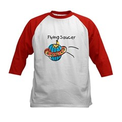 Kid Art Flying Saucer Kids Baseball Jersey