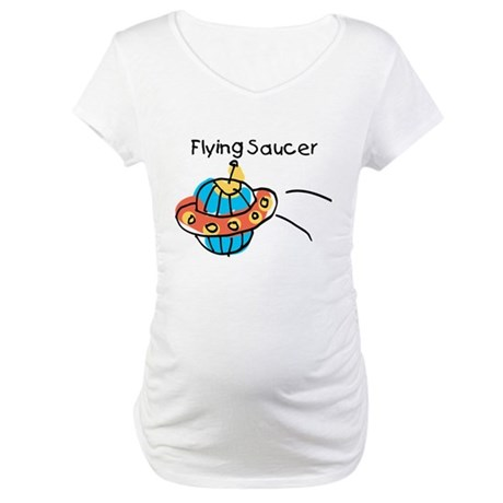 Kid Art Flying Saucer Maternity T-Shirt