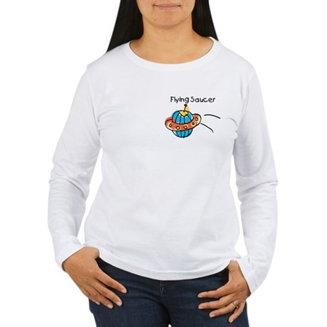 Kid Art Flying Saucer Women's Long Sleeve T-Shirt