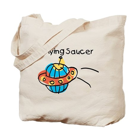 Kid Art Flying Saucer Tote Bag