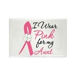I Wear Pink For My Aunt Rectangle Magnet (10 pack)