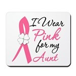 I Wear Pink For My Aunt Mousepad
