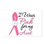 I Wear Pink For My Aunt Postcards (Package of 8)