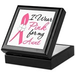 I Wear Pink For My Aunt Keepsake Box