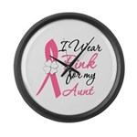I Wear Pink For My Aunt Large Wall Clock