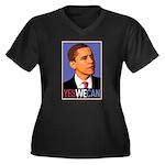 """Barack Obama """"Yes We Can"""" Women's Plus Size V-Neck"""