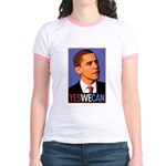 """Barack Obama """"Yes We Can"""" Jr. Ringer T-Shirt"""
