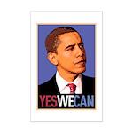"Barack Obama ""Yes We Can"" Mini Poster Print"