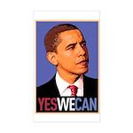 "Barack Obama ""Yes We Can"" Rectangle Sticker"