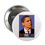 """Barack Obama """"Yes We Can"""" 2.25"""" Button"""