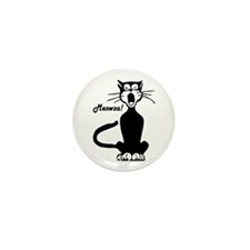 Meowza! 1950's Cartoon Cat Mini Button (100 pack)