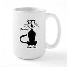 Meowza! 1950's Cartoon Cat Mug
