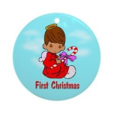 First Christmas (multi ethnic) Ornament (Round)