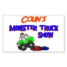 Colin's Monster Truck Rectangle Decal