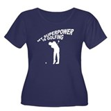 My Superpower is Golfing Women's Plus Size Scoop N