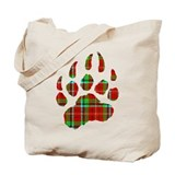 PLAID Bear Paw Tote Bag