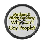 Why Can't Gay People Large Wall Clock