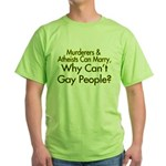 Why Can't Gay People Green T-Shirt