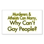 Why Can't Gay People Rectangle Sticker 50 pk)