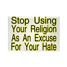 Stop Using Religion Rectangle Magnet (10 pack)