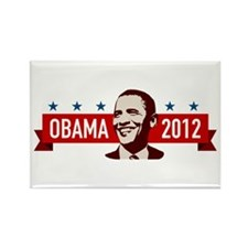 Obama Faces Rectangle Magnet (10 pack)