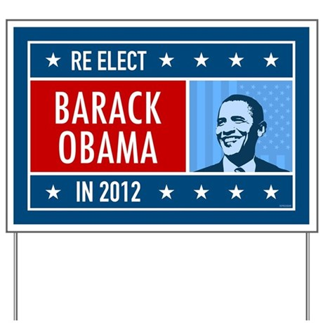 Obama Faces Yard Sign