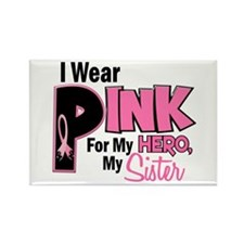 I Wear Pink For My Sister 19 Rectangle Magnet