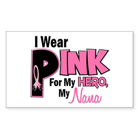 I Wear Pink For My Nana 19 Rectangle Sticker