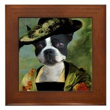 Boston Terrier RUBENS Framed Tile