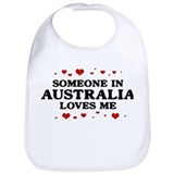 Loves Me in Australia Bib