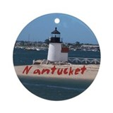 Brant Point Nantucket Ornament (Round)