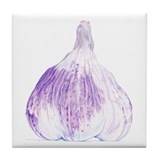 Purple Garlic Tile Coaster