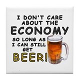 Beer Economy Tile Coaster