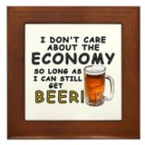Beer Economy Framed Tile
