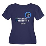 'Police Retirement Designs. Women's Plus Size Scoo