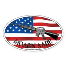 Molon Labe AR-15 Oval Decal
