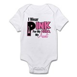 I Wear Pink For My Aunt 19  Baby Onesie