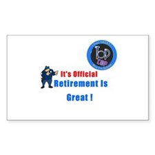 'Police Retirement Designs. Rectangle Sticker 10