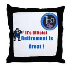 'Police Retirement Designs. Throw Pillow