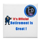 'Police Retirement Designs. Tile Coaster