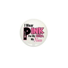 I Wear Pink For My Niece 19 Mini Button (10 pack)