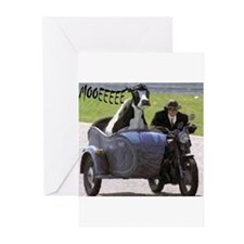 Cow in Sidecar Greeting Cards (Pk of 20)