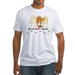 Golden Butts with Duck Fitted T-Shirt