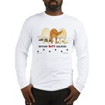 Golden Butts with Sticks/Balls Long Sleeve T-Shirt