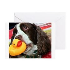 Doggy and Ducky Loving Friends Greeting Card